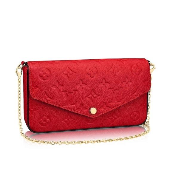 Louis Vuitton Handbags - LV red crossbody RESERVED b885429db043d